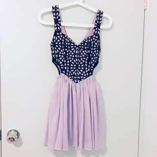 Lucy in the Sky Lilac Cutout Dress
