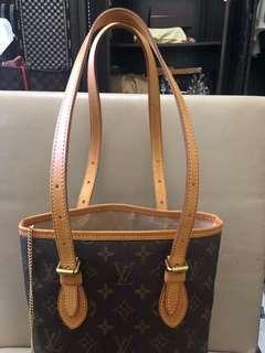 LV Monogram Bucket Bag with accessory