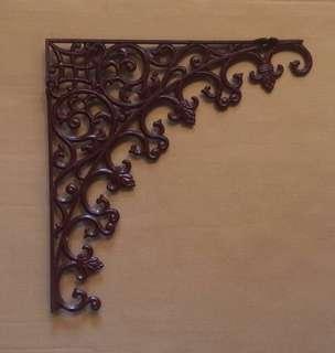 🆕 vintage-style corner corbel bracket for doorway brown