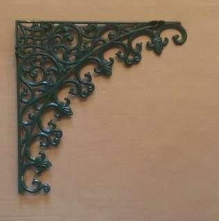 🆕 vintage-style corner corbel bracket for doorway green