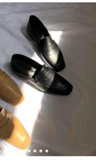 🚚 轉賣vizzle韓國質感2way皮鞋 樂福鞋