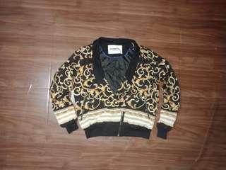 Vintage Culture Call Blazer Bomber Silk Jacket no Gucci Ysl Versace