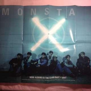 Monsta X THE CLAN PT .1 LOST Poster (official)