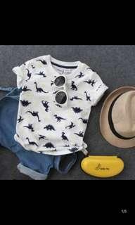 [PO/Ready] Kids boy dinosaur tee