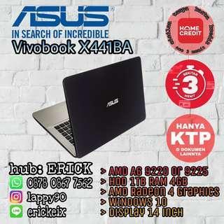 Kredit Laptop ASUS Vivobook X441BA A6 acc 3 mnt free 1x cicilan