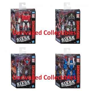 [Pre-Order] Hasbro Takara Tomy TF Siege War For Cybertron WFC Deluxe Class Wave 1 (set of 4)