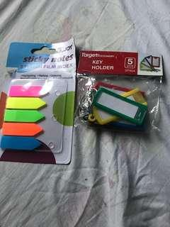 Sticky notes and key holder