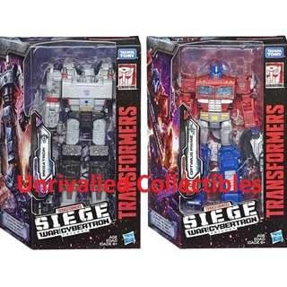 [Pre-Order] Hasbro Takara Tomy TF Siege War For Cybertron WFC Voyager Class Wave 1 (set of 2)
