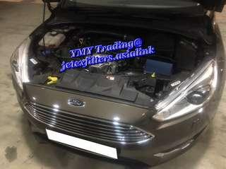 #jetexfilters_ford. #jetexfiltersasialink. Ford Focus 1.0T on site replacement of Jetex high flow performance drop in air filter with 1.14kpa flow rate washable & reusable ..