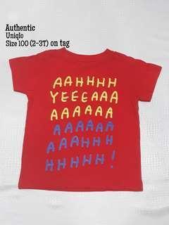 Uniqlo red shirt