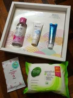 Biore Deluxe Sample Kit + cleansing wipes