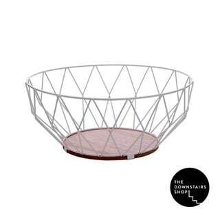 ⚡️[Instock!] Lind Geometric Wire X Wood Basket