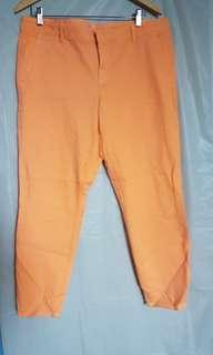 Gap Skinny Mini Khaki Pants in Orange
