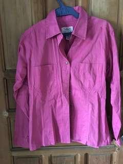 FUSCHIA PINK POLO / JACKET (MADE IN HK)