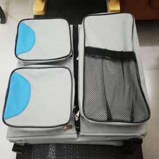 Reduced $. Baby diaper bag n travel bed