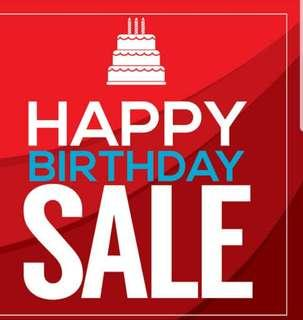 BIRTHDAY SALE