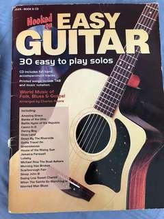 Easy Guitar book 30 easy to play solos with CD