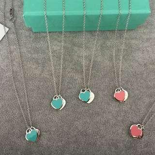Hot Jewelry Set Pink Tiffany Blue Love Pendant Necklace