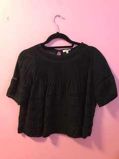 Aritzia Beaudry Blouse in Black Size Small