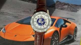 Fortis Globe Dial Automatic Watch