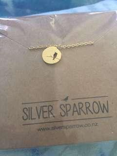 Silver sparrow necklace in gold