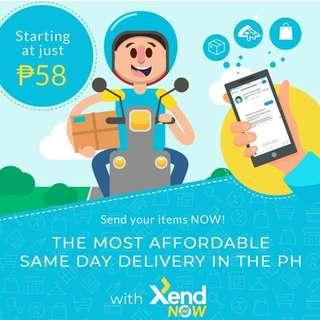 SAME DAY DELIVERY VIA XEND