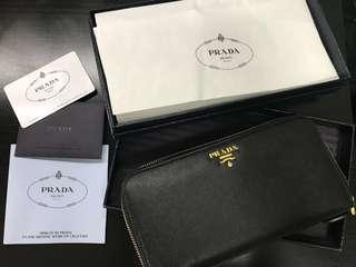 Pre-Loved Authentic PRADA Saffiano Wallet