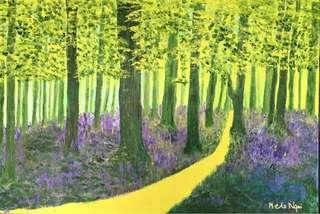 Original Acrylic Forest Landscape Painting by Melo Ngai