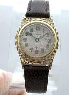 🚚 RARE Harwood 1928 FIRST automatic winding watch FULLY WORKING 14K GOLD filled