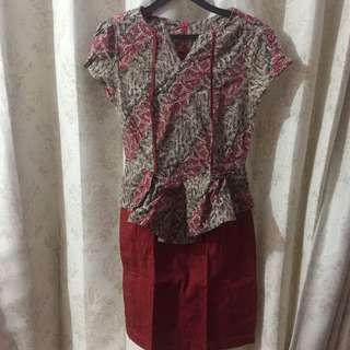 Batik dress good quality