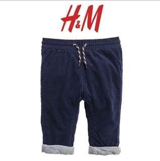 H&M Pants Corduroy Navy size 18-24m