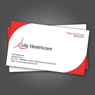 Name card promotion!  250gsm TK White Card; 600pcs