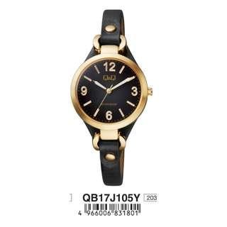 Q&Q Women's Leather Watch By Citizen QB17