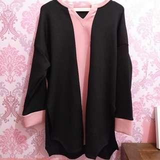 Blouse Black Pink