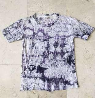 PURPLE/WHITE TIE DYED T-SHIRT