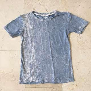 BLUE/ WHITE TIE DYED T-SHIRT