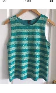 J. Crew Sleeveless Sequin Top Size XS