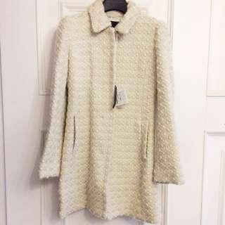 Mercuryduo名媛質感金蔥羊毛大衣