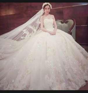 PO Wedding Gown Size : S,M,L,XL