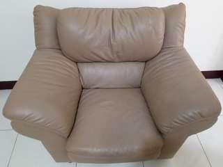 9成5新 💝高級單人沙發💝 (荔枝紋皮質)