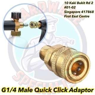 G1/4 Male Quick Click Adaptor For Pressure Washer