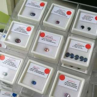UNHEATED sapphires collection prices vary