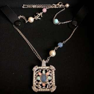 Chanel Necklace with Pearls, Strass Crystals and Stones in SHW