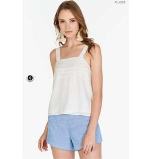 The Closet Lover Unas Shorts in Blue Stripes