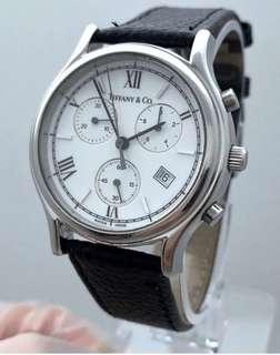 🚚 Tiffany & Co Chronograph Original Dial Original Buckle Stainless Steal Serviced