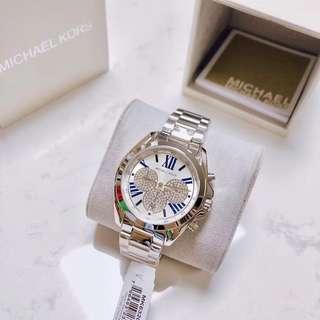 caa09ee8884f Michael Kors Bradshaw Silver Crystal Pave Dial Unisex Watch - MK6320
