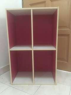 Bookshelf 4 racks Preloved