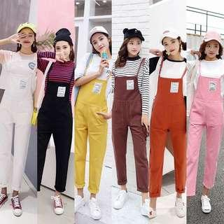 (6Col) Korean Cute Dungaree Jumpsuit