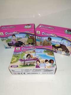 Building blocks Pleasant Brand/ lego friends 41-52 pieces