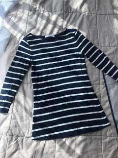 Zara dark blue Striped Top